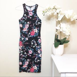 Express Floral Garden Bodycon Tank Dress Small
